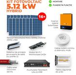 Kit HYBRID 5,12 KW + Pylontech 2,4 KW Litiu